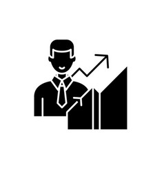 New career black icon sign on isolated vector