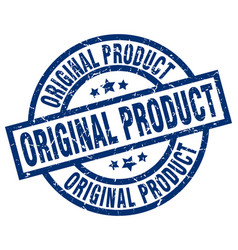 Original product blue round grunge stamp vector