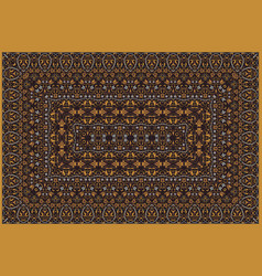 persian colored carpet vector image