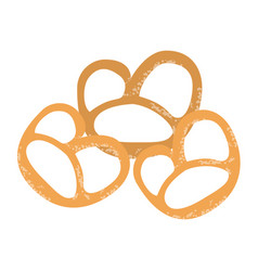pretzel germany snacks vector image