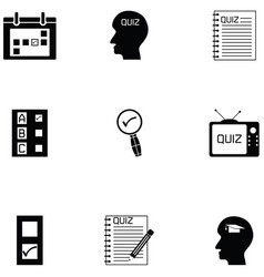 quiz icon set vector image