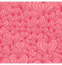 Red stylized hearts seamless vector
