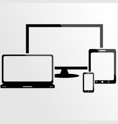 responsive design device screen vector image