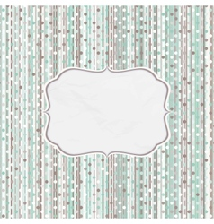 Retro Dots Pattern Card vector image