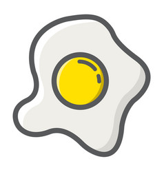 scrambled eggs filled outline icon food and drink vector image