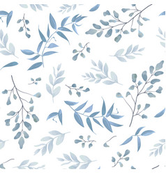 Seamless botanical pattern background print vector