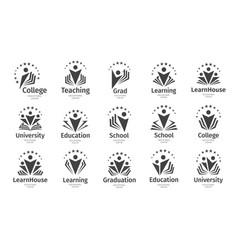 set education icon open book vector image