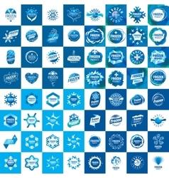 set of abstract logos vector image