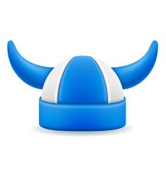 soccer football fans attribute hat vector image