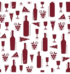 Texture with vinous wine bottles glasses vector image