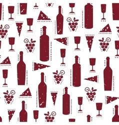 Texture with vinous wine bottles glasses vector