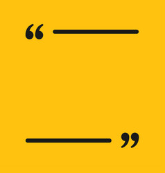 The square speech bubble quote blank template vector