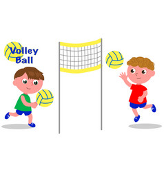 Volley ball players vector