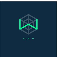w monogram w letter web logo vector image