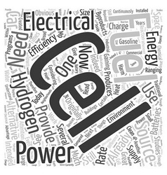 What are Hydrogen Fuel Cells Word Cloud Concept vector