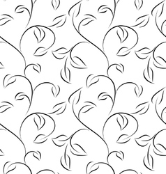 white seamless leaves vector image
