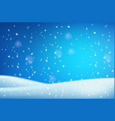 winter christmas white blue snowdrifts blurred vector image