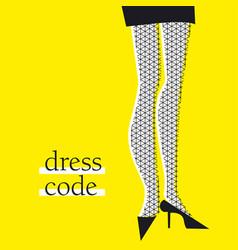 Yellow and black woman legs cartoon vector