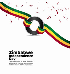Zimbabwe independence day template design vector