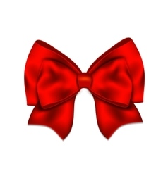 Realistic red bow isolated on white background vector image vector image