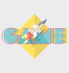 Game typographics modern vector