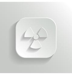 Radioaktivity icon - white app button vector image vector image