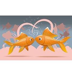 Romantic fish vector image