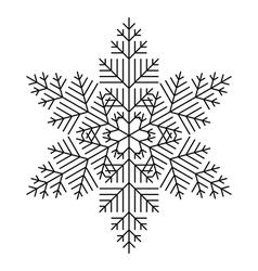 Simple Snowflake vector image