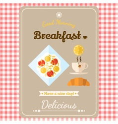 with labels breakfast vector image vector image