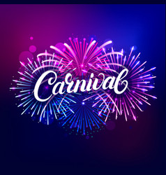 carnival hand written lettering text vector image