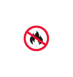 no fire sign isolated on white background vector image
