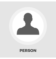 Person icon flat vector image vector image