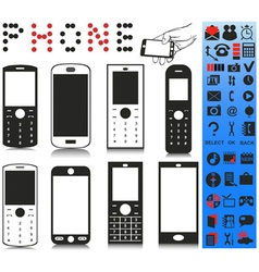 Telephone and menu vector image vector image