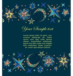 Blue starry fantastic background vector image