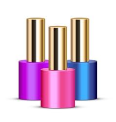 nail polishes vector image vector image