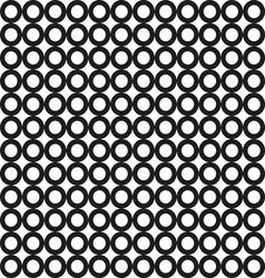seamless black circle pattern vector image
