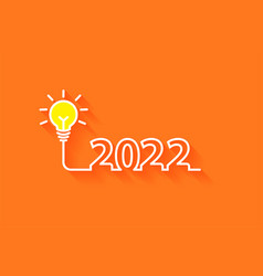 2022 new year creativity lightbulb inspiration vector