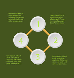 5 steps of modern arrow infografics template for vector image
