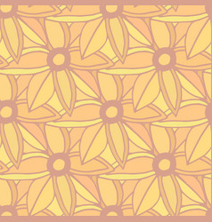 autumn flowers seamless pattern autumn background vector image