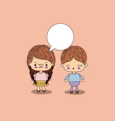 Beige color background angry girl braids hair with vector