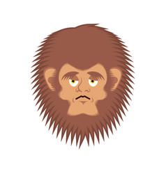 bigfoot sad emoji yeti wailful emotion face vector image