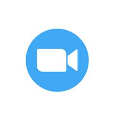 blue camera icon - live media streaming vector image