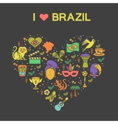 Brazilian thematic print 2 vector