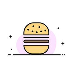 burger fast food fast food business flat line vector image