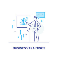 business coach at the blackboard training vector image