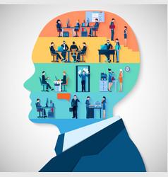 Business Head Design Concept vector