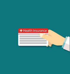 Card health insurance medical icon payment vector