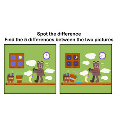 Cartoon spot the difference vector