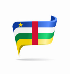 central african republic flag map pointer layout vector image
