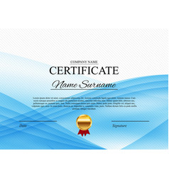 Certificate template background award diploma vector